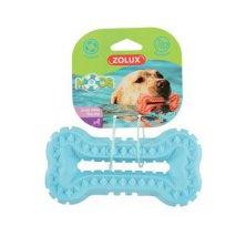 Hračka pes BONE MOOS TPR POP 13cm modrá Zolux