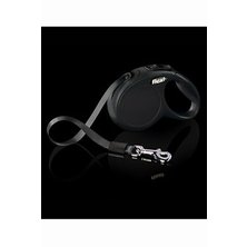 Vodítko FLEXI Collection S pásek 3m/12kg černá/černá