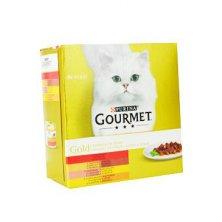 Gourmet Gold Mltp konz. kočka kousky ve šťávě 8x85g
