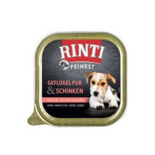 Rinti Dog Feinest vanička drůbež+šunka 150g