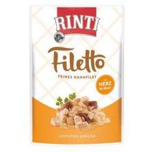 Rinti Dog Filetto kapsa kuře+kuřecí srdce v želé 100g