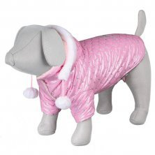 AKCE -  Lesklá bundička DOG PRINCESS růžová S 33cm