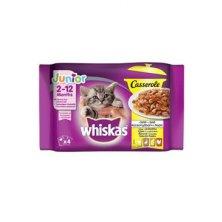Whiskas kapsa Casserole Junior drůbeží v želé 4x85g