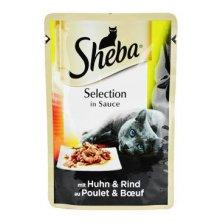 Sheba kapsa Selection s kuřecím a hovězím ve šťávě 85g