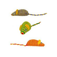 Hračka kočka myš 7cm mix barev Zolux