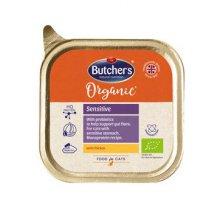 Butcher´s Cat Organic Sensitive s kuřecím vanička 85g