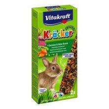 Vitakraft Rodent Rabbit Kräcker zelenina+červ.řepa 2ks