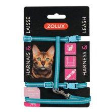 Postroj kočka s vodítkem 1,2m modrý Zolux