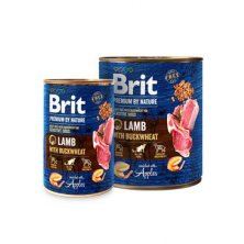 Brit Premium Dog by Nature  konz Lamb & Buckwheat 400g