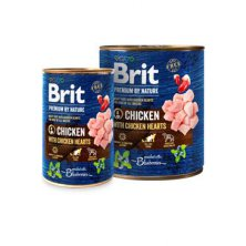 Brit Premium Dog by Nature  konz Chicken & Hearts 400g