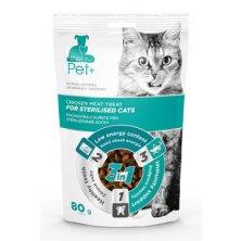 Pochoutka Pet+ 3v1 kočka STERILISED kuřecí 80g