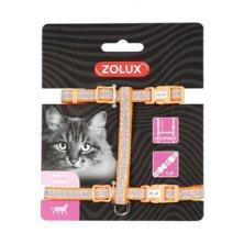 Postroj kočka SHINY nylon oranžový Zolux