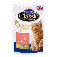 Butcher´s Cat Class.Delic.Dinn. losos+dorada kapsa100g