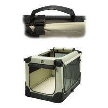 Přepravka MAELSON pro psy nylon Béžová XS /52x33x33cm
