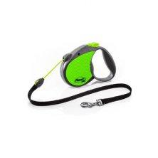 Vodítko FLEXI Neon Reflect Lanko S 5m/12kg zelená