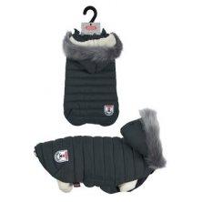 Obleček prošívaná bunda pro psy URBAN černá 40cm Zolux