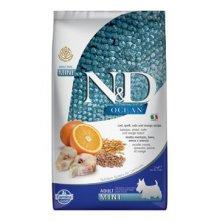 N&D OCEAN DOG LG Adult Mini Codfish & Orange 2,5kg