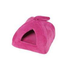 Pelech domek iglů velký 45x45cm Růžová tmavá 1ks