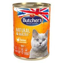 Butcher´s Cat Natur.&Healthy kousky kuřete v želé 400g
