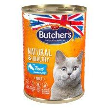 Butcher´s Cat Natur.&Healthy kousky pstruha v želé400g