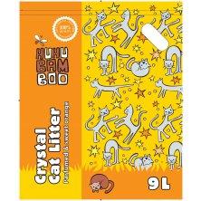 Huhubamboo silikonová podestýlka pro kočky 9l - pomeranč