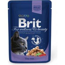 Kap.Brit Cat Prem. Pouches treska 100g