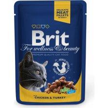 Kap.Brit Cat Prem. Pouches kure+kruta 100g