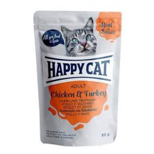 Happy Cat kapsa Meat in Sauce Adult Kuře a krůta 85g