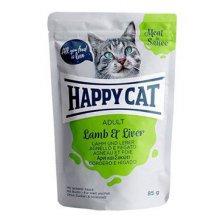 Happy Cat kapsa Meat in Sauce Adult Jehně a játra 85g