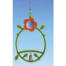 Hračka pták plast Kruh se zrcátkem a zvonkem Nobby na kartě