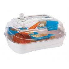 Klec hlod. křeček plast Abode - bílá/mod./oranž Rosewood 55x39x26,5cm