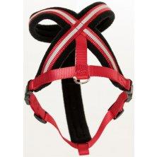 Postroj nylon Comfy červeno/černý The Company 2 XX Small