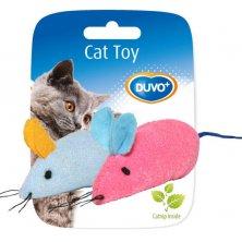 Hračka cat textil Myš mix barev Duvo+ 2 ks, 6 x 5 x 3 cm