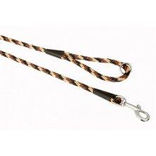 """Vodítko textil lano """"Spirála"""" černo/hnědé B&F 1,40 x 150 cm"""