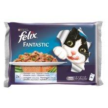 Felix cat kaps.-Fant.Multipack výběr z ryb +zelen. 4 x 100 g