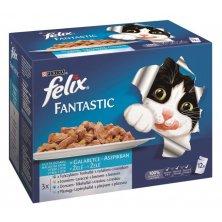 Felix cat kaps.-Fant.Multipack výběr z ryb 12 x 100 g
