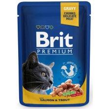 Brit Premium Cat kaps. -Gravy Salmon & Trout 100 g