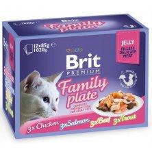 Brit Premium Cat kaps. -Jelly Family Pl. 1020 g (12x85 g)