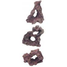 Dekorace umělá - skalní okno, mix druhů 13x9x16cm Flamingo