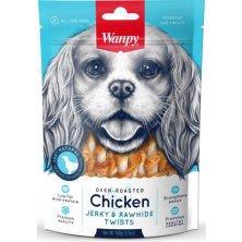 Wanpy Dog Chicken Jerky & Rawhide Twists 100 g