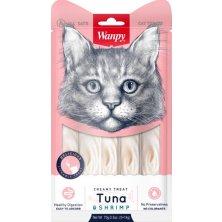 Wanpy Cat Creamy Lickable Treats - Tuna & Shrimp 5 x 14 g