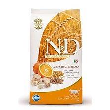 N&D Low Grain CAT Adult Codfish & Orange 300g