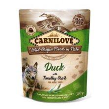 Carnilove Dog Pouch Paté Duck & Timothz Grass 300g