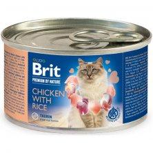 Brit Premium by Nature Cat konz. Chicken with Rice 200 g