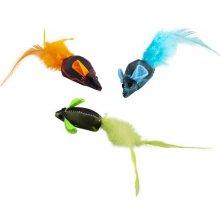 Hračka cat Multicolor mouse 3ks Duvo+