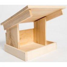 Krmítko venkovní dřevo šikmá střecha 22x17x22cm