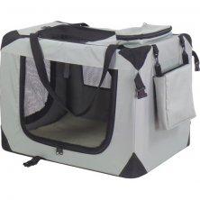 Transp.nylon box Dogcrate 62x42x44 šedý A.K.