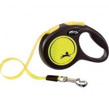 Flexi New Neon XS pásek 3 m žluté 12 kg