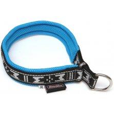 Obojek nylon polstrovaný - modrý ManMat 47 cm