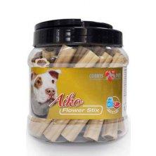 Pochoutka pes Flower Stix 12cm mléko+jehně 30 ks